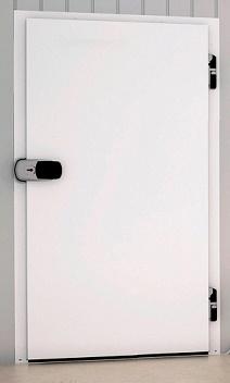 Распашные одностворчатые холодильные двери с накладной рамой