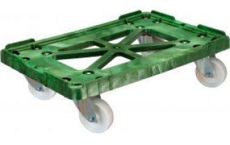 Тележка для пластикового ящика (колеса полиамидные) 600*400 Артикул 508-1