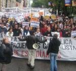 Испанские студенты вышли на улицы