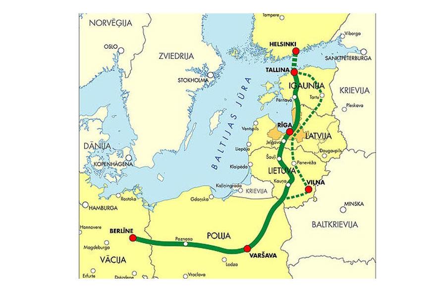 Страны Балтии подписали соглашение о строительстве Балтийской железной дороги