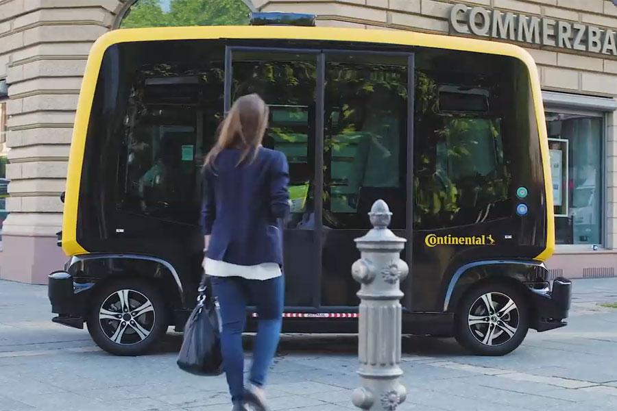Пассажирский беспилотный микроавтобус испытают во Франкфурте