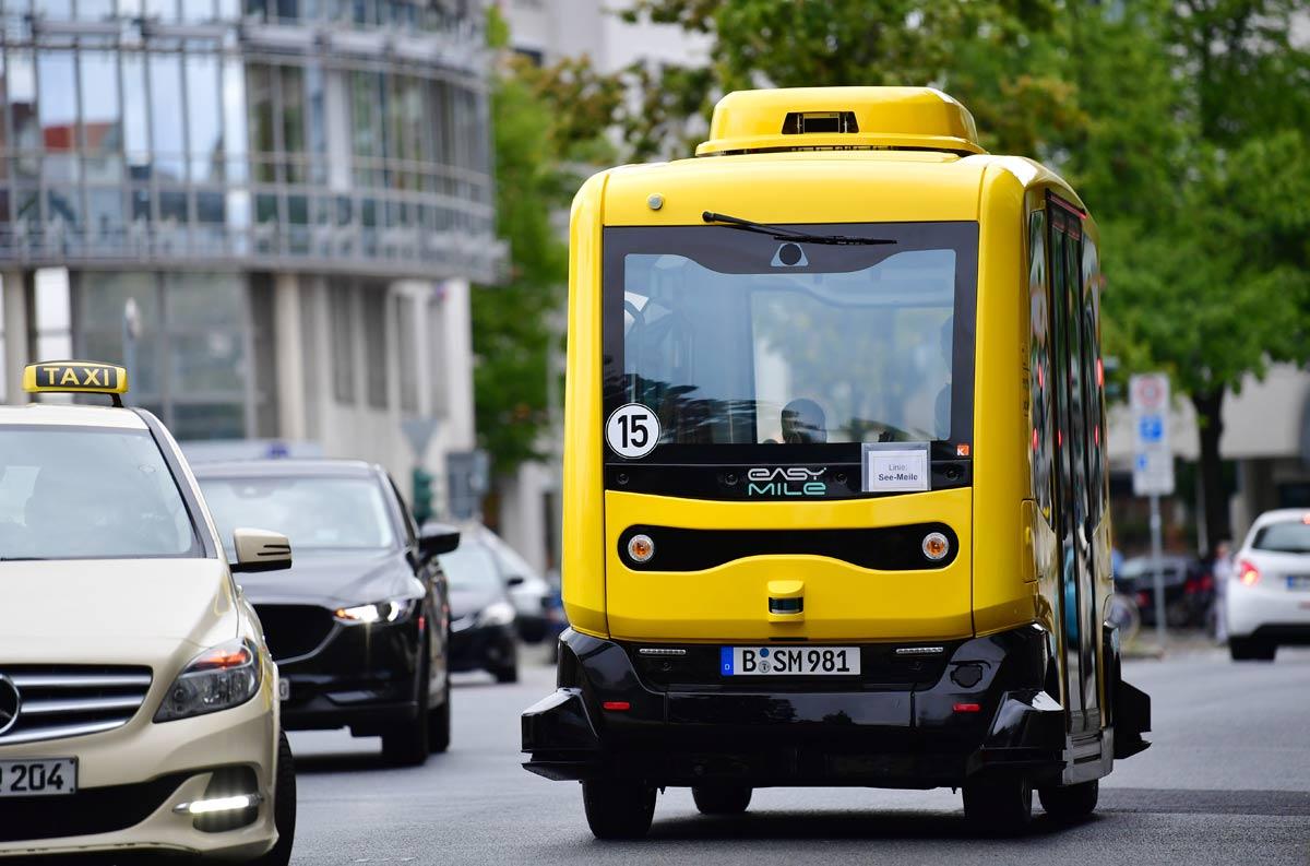 В Берлине протестируют беспилотные электробусы
