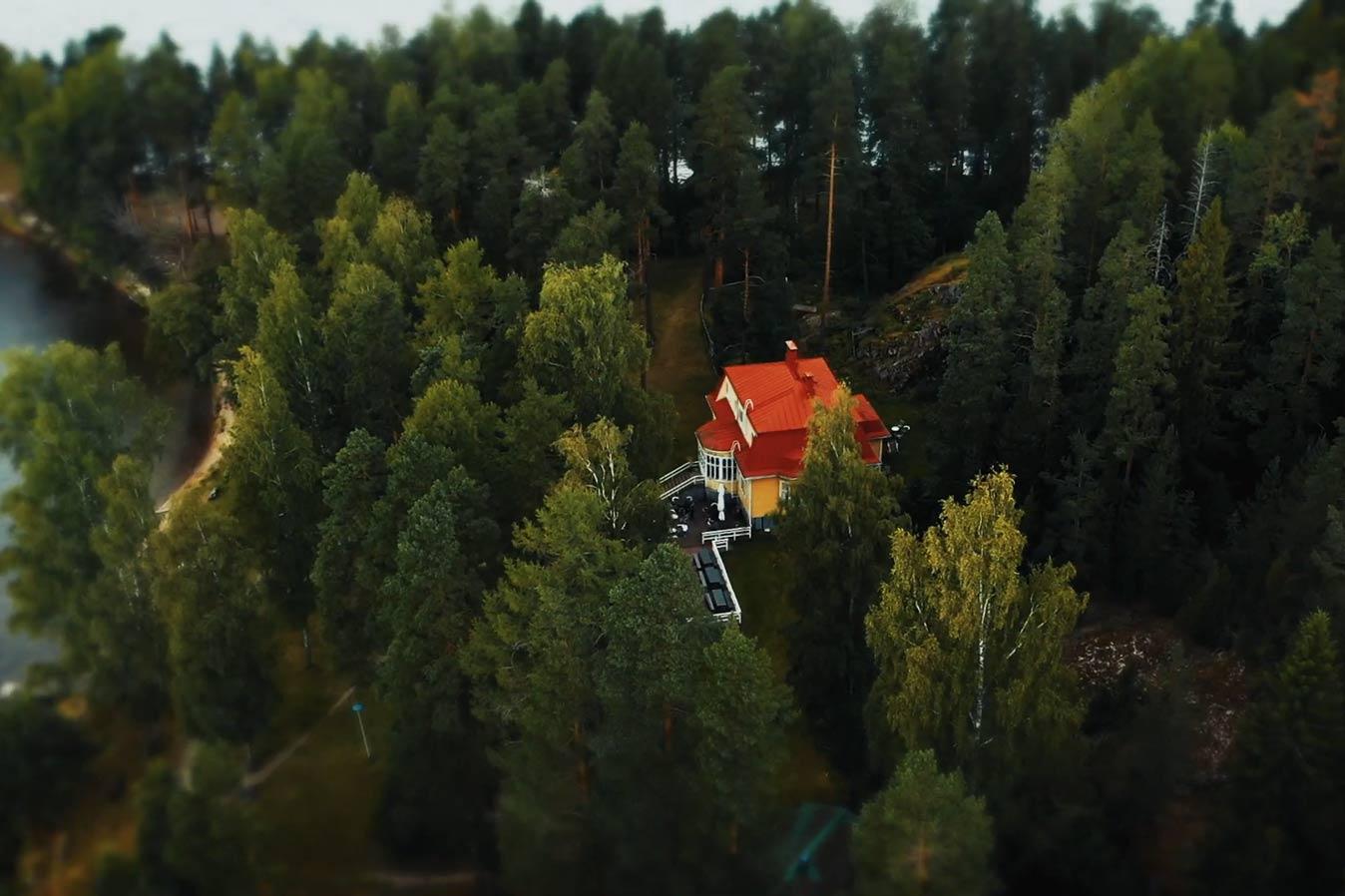 Зеленый финский город против глобального потепления