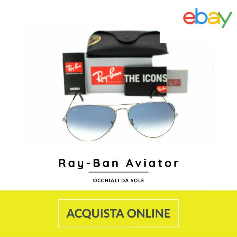 Ray-Ban Aviator occhiali sole uomo 2021