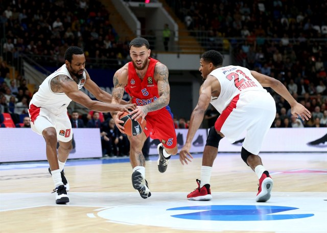 """The Mike James Show"" non basta, il CSKA cade in casa contro l'Olympiacos"