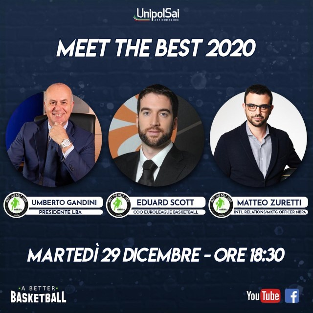 Meet the best 2020: A better Basketball. Questa sera il primo appuntamento