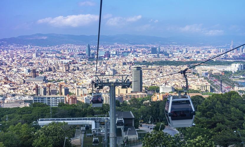 Vista panorâmica em Barcelona