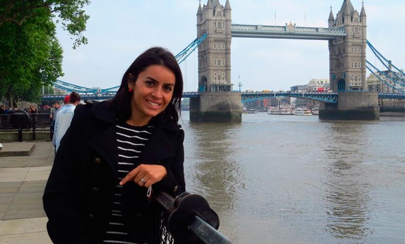 Andrea Côrtes em Londres
