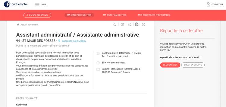 Assistente administrativo na França