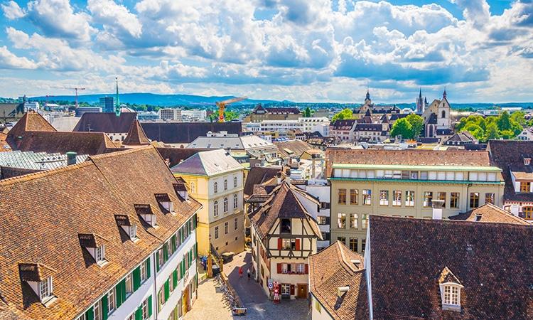 Vista da cidade de Basileia