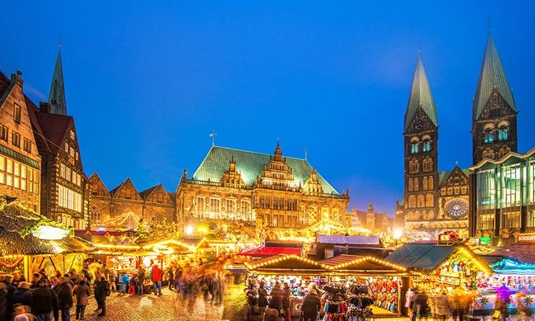 Bremen: mercado de natal na cultura da Alemanha