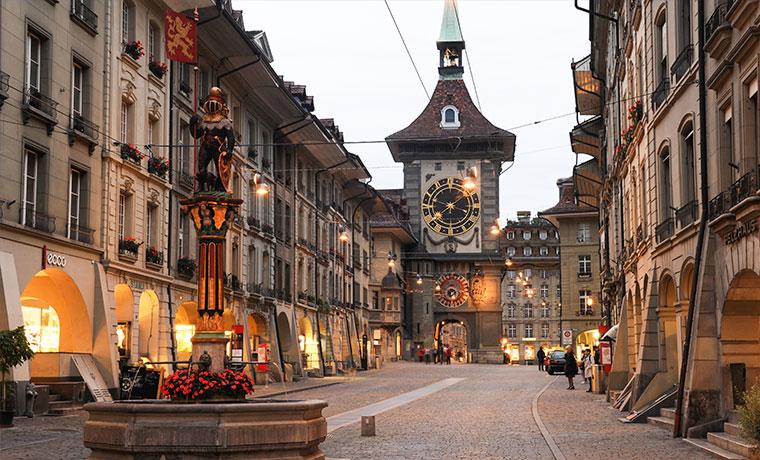 capital da suica torre do relogio