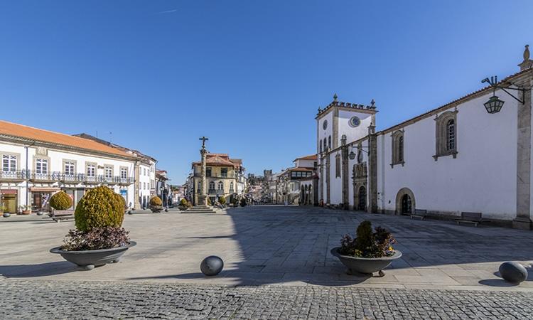 Cidade de Bragança em Portugal