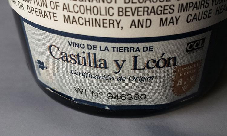 Etiqueta de vinho Espanhol