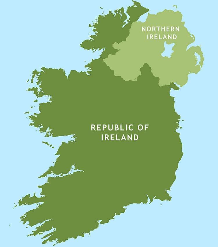 Extensão do Mapa da Irlanda