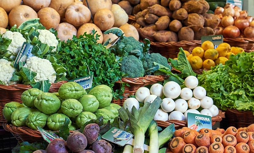 frutas no supermercado em Portugal