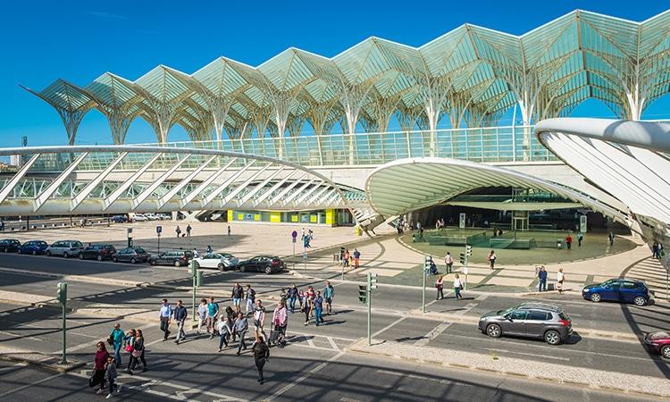 Gare do Oriente junto do Aeroporto de Lisboa
