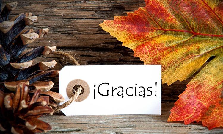 Gracias é obrigado em Espanhol