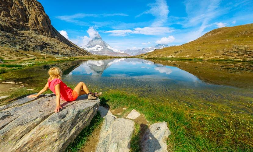 Lago Riffelsee na Suíça