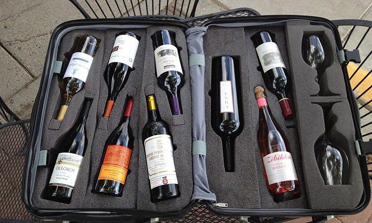 Mala para levar vinho para o Brasil