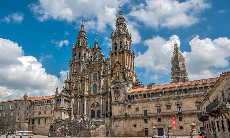 mapa da Espanha catedral santiago compostela