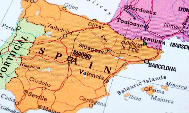 mapa da Espanha atual