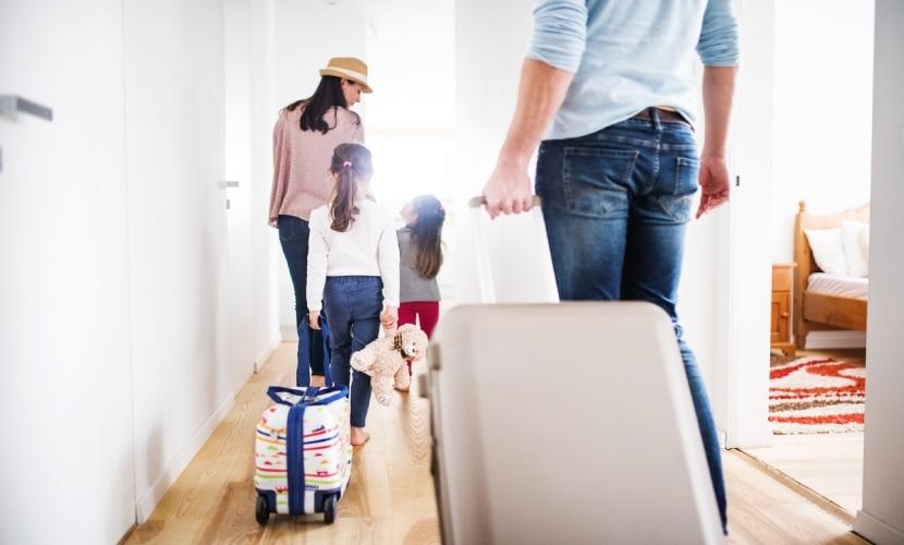 Mudança em família para o exterior