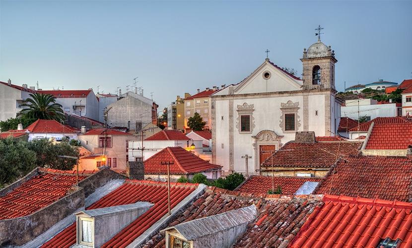 Odivelas nos arredores de Lisboa