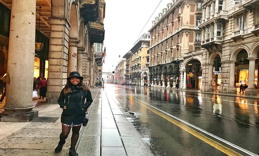 ser uma imigrante negra em Genova