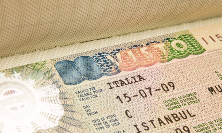 Visto para Itália
