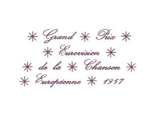 Logo ESC 1957