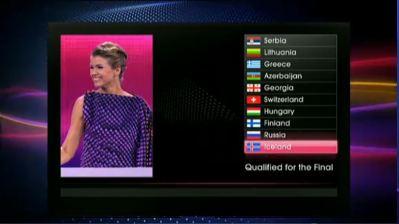 Scoreboard Prima Semifinale 2011