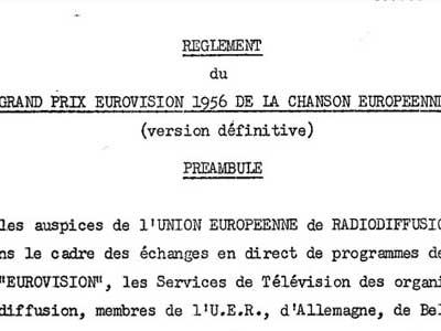 Regolamento ESC 1956