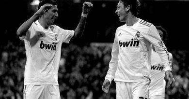 Angel Di Maria and Mesut Ozil
