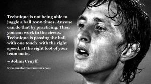 Football Quotes 9 - Johan Cruyff