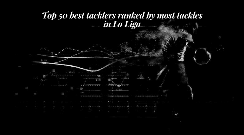 Top 50 best tacklers ranked by most tackles in La Liga