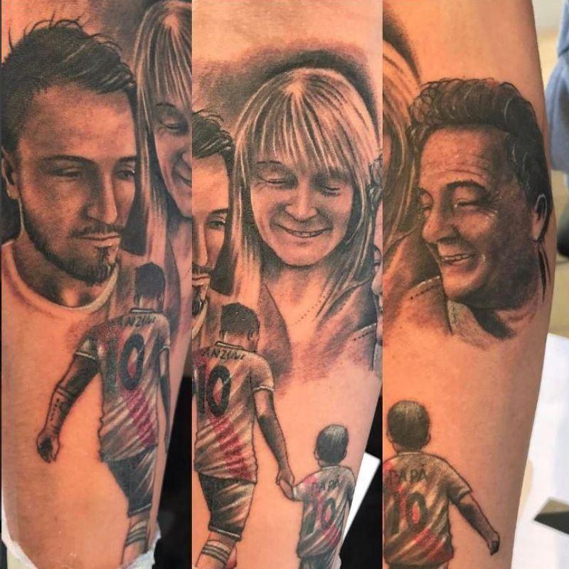 Manuel Lanzini's Tattoo