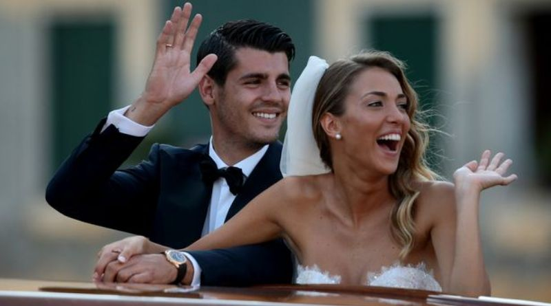 Alvaro Morata and Alice Campello