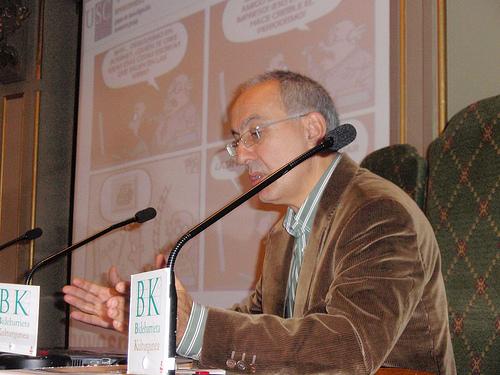 Xosé López, en el Congreso de Ciberperiodismo y Web 2.0, en Bilbao