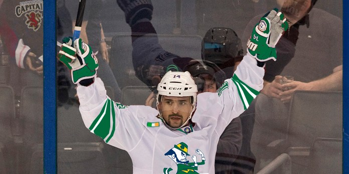 Montreal Canadiens' Tomas Plekanec celebrates his goal during the second period of an NHL hockey game against the Tampa Bay Lightning on Saturday, Dec. 28, 2013, in Tampa, Fla. (AP Photo/Steve Nesius)