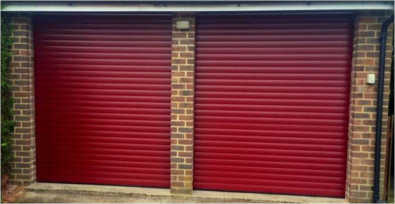 Burgundy Red Roller Garage Door