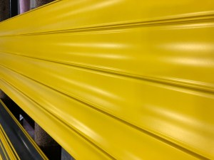 Yellow Roller Garage Door Lath