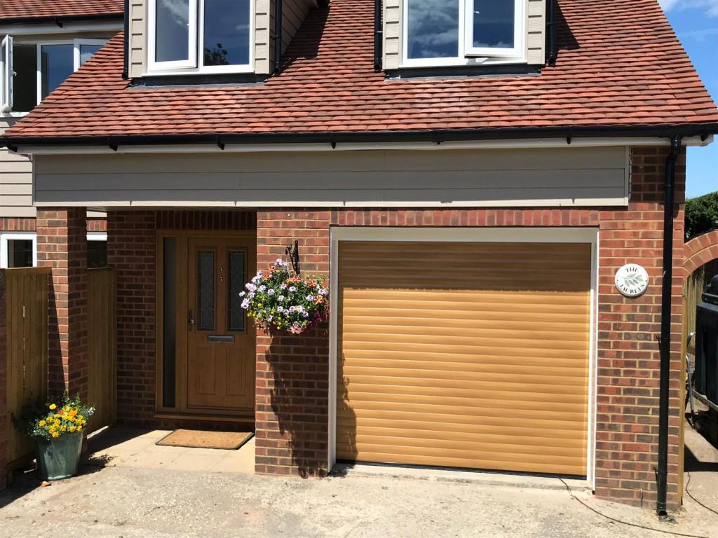 Irish Oak Euroll UK Roller Garage Door