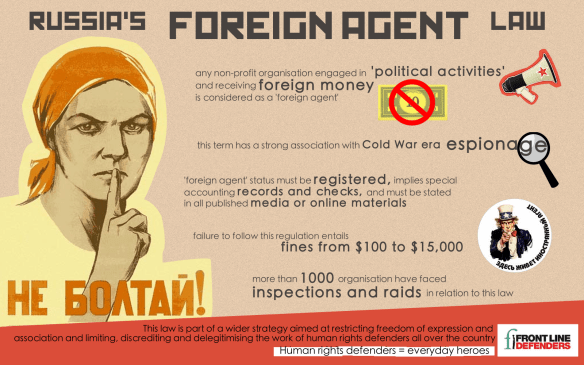 "ARE ""FOREIGN AGENTS"" HEROES? 