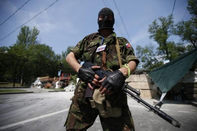 A Russian mercenary in Donbas, Ukraine