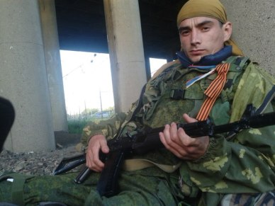 A Russian mercenary from St. Petersburg in Donbas