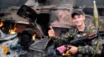 A soldier of the Russian occupation force in Ukraine