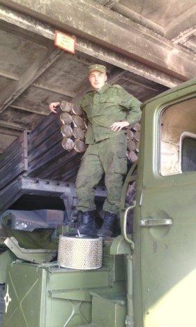 Chugunov with his Grad rockets