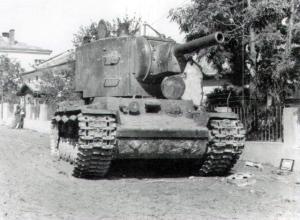 Soviet heavy tank KV-2