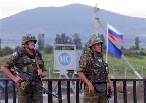 Russian peacekeepers in South Ossetia. Georgia, 2008.